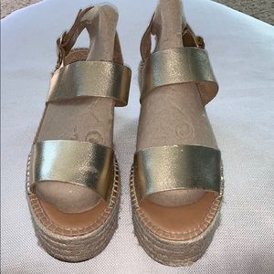 Steve Madden Cali Gold Espadrille Platform Sandal